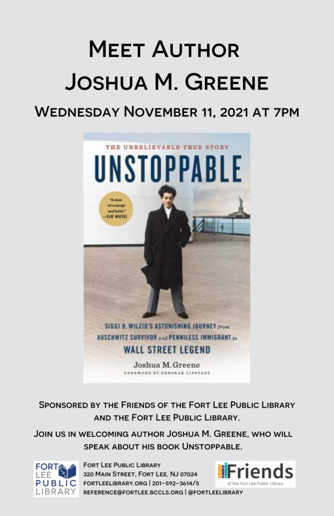 Joshua Greene at Fort Lee Library